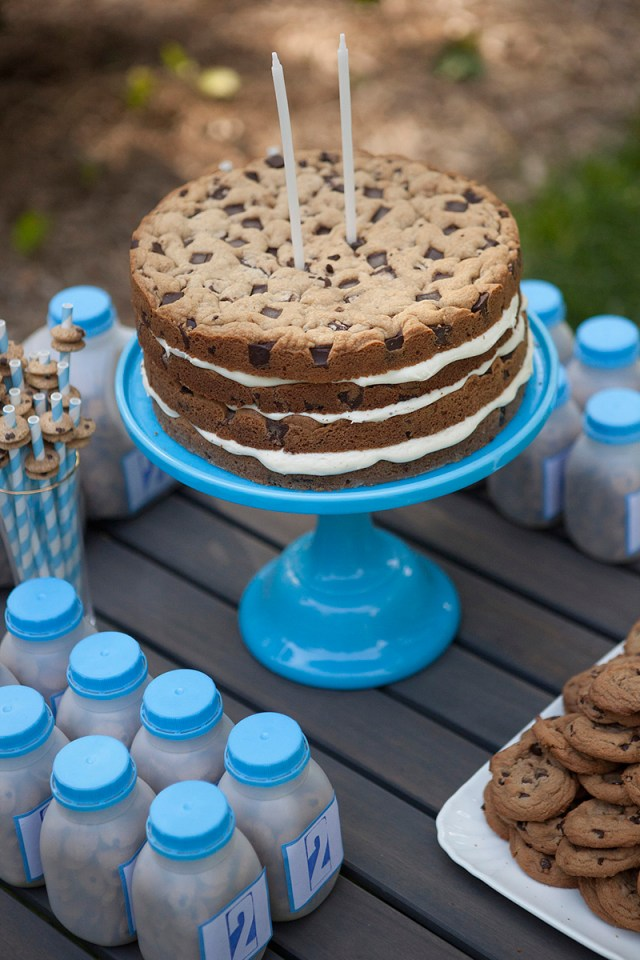 Cookie Birthday Cake Milk Cookies Birthday Party Lets Party Birthday Cookies