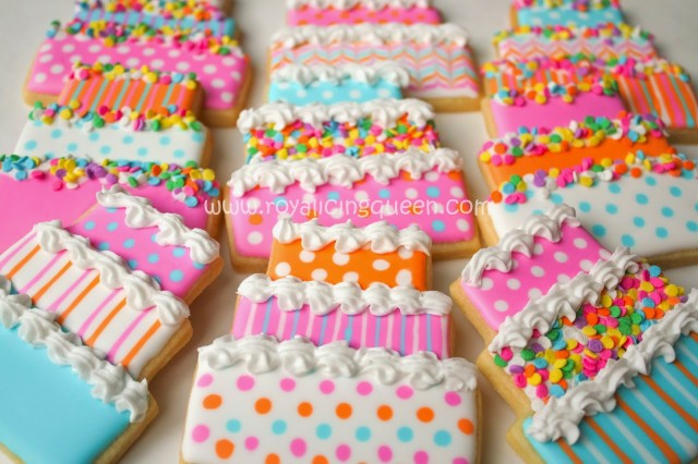 Cookie Birthday Cake The Royal Icing Queen Birthday Cake Cookies