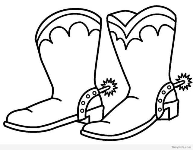 Cowboy Boot Coloring Page 15 Cowboy Coloring Pages Timykids