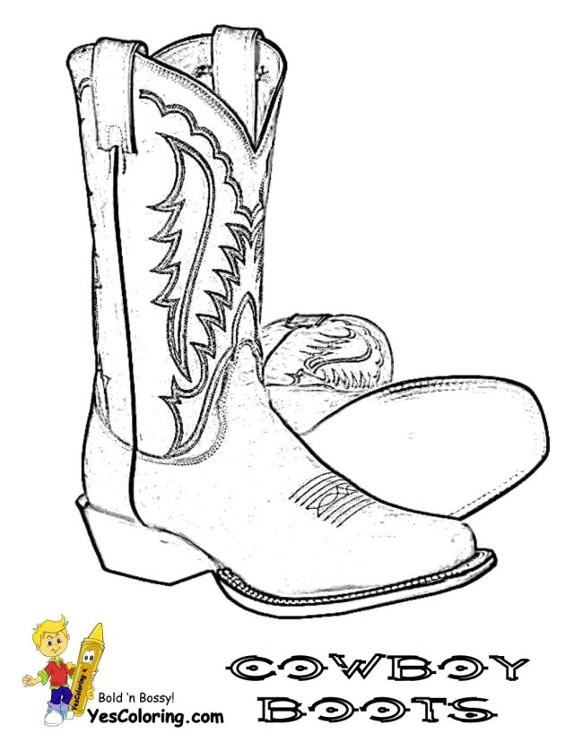 Cowboy Boot Coloring Page Boots Coloring Pages To Print Cowboy Boot Printable Chronicles