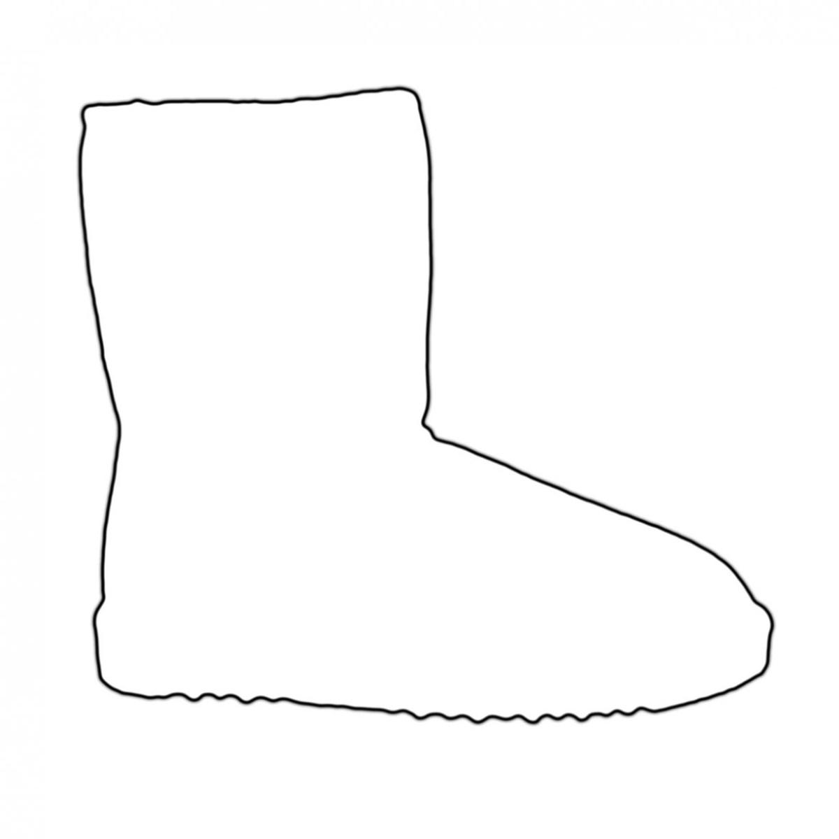 Winter Boots Coloring Page | Kleurplaten, Knutselen peuters, Regenlaarzen | 1200x1200