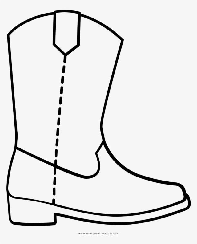 Cowboy Boot Coloring Page Cowboy Boot Coloring Page Dibujo Bota De Vaquero Free