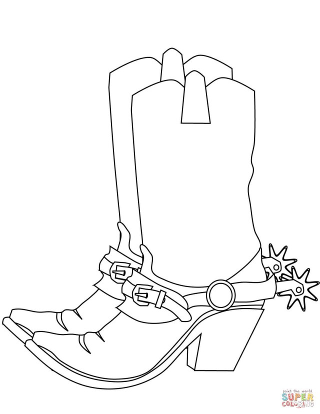 Cowboy Boot Coloring Page Cowboy Boots Coloring Page Free Printable Coloring Pages