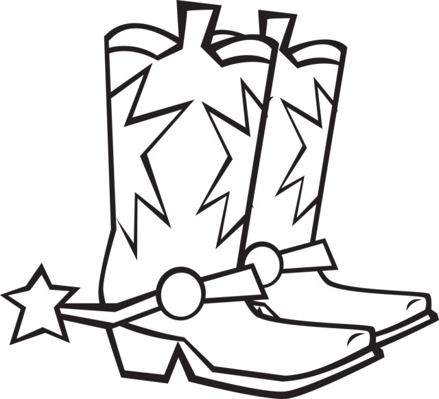 Cowboy Boot Coloring Page Cowboy Hat Coloring Page At Getdrawings Free For Personal Use