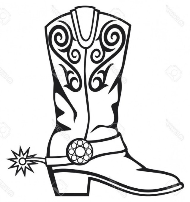 Cowboy Boot Coloring Page Elegant Perspective Cowboy Boot Coloring Page Beautiful Boots Pages
