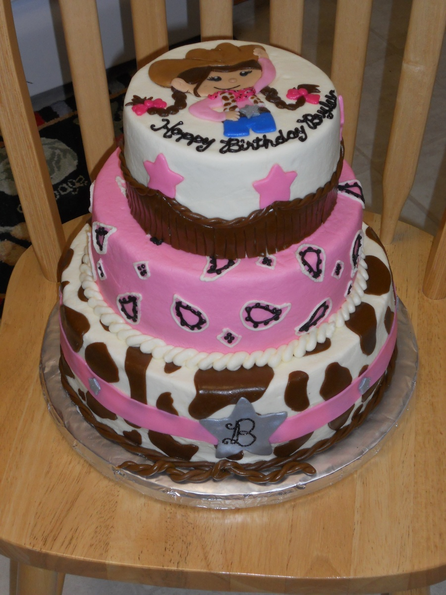 Awesome Cowgirl Birthday Cakes Pink Cowgirl Birthday Cakecentral Birijus Com Personalised Birthday Cards Bromeletsinfo