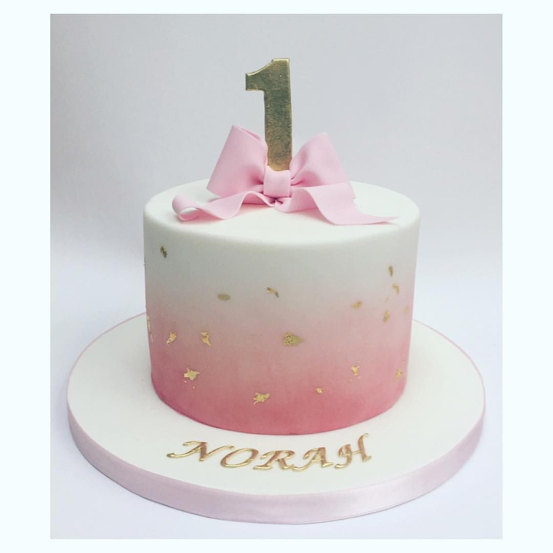 Phenomenal Cute Birthday Cakes For Girl Simple And Beautiful Pink Fading Into Funny Birthday Cards Online Eattedamsfinfo