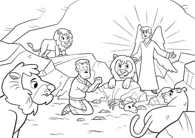 Daniel And The Lions Den Coloring Page Daniel And The Lions Den Coloring Pages Dcp4 Opportunities Daniel In