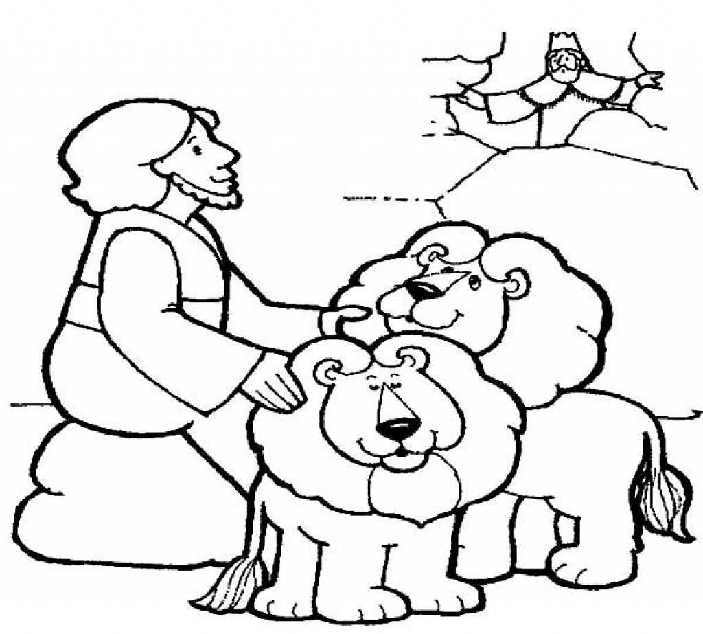 Daniel And The Lions Den Coloring Page Daniel Coloring Pages Dapmalaysia