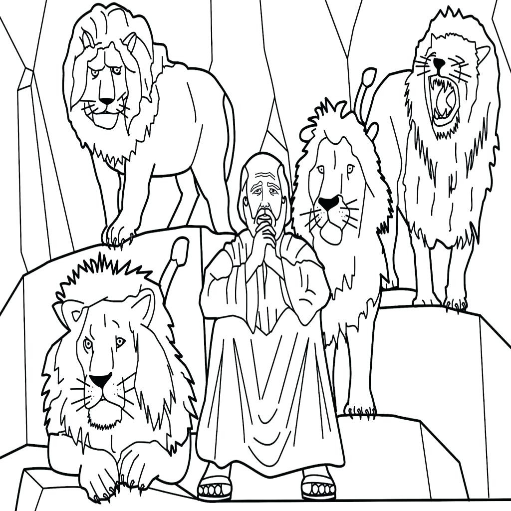 Daniel And The Lions Den Coloring Page Sensational Daniel And The Lions Den Coloring Page X Of In Colouring