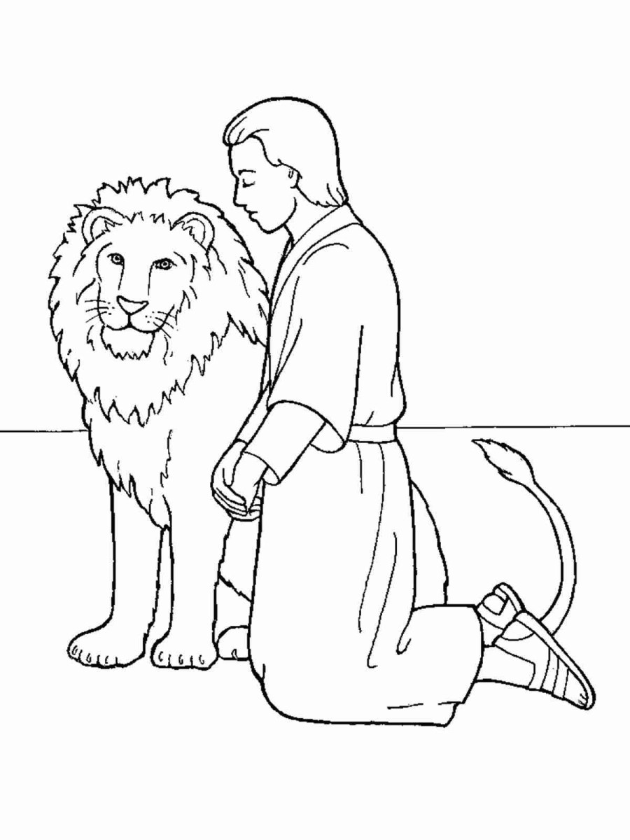 Daniel And The Lions Den Coloring Page Sizable Daniel And The Lions Den Coloring Page Pages New Informative