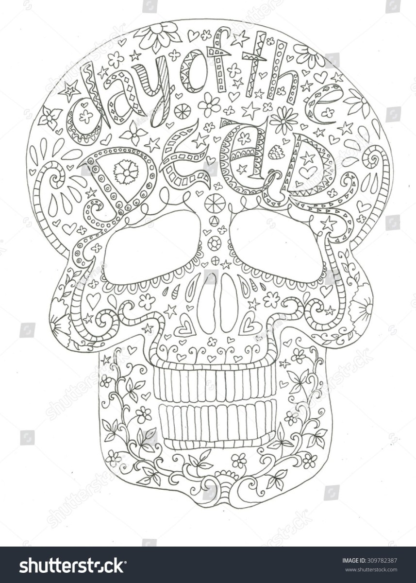 Day Of The Dead Coloring Pages Day Of Dead Skull Coloring