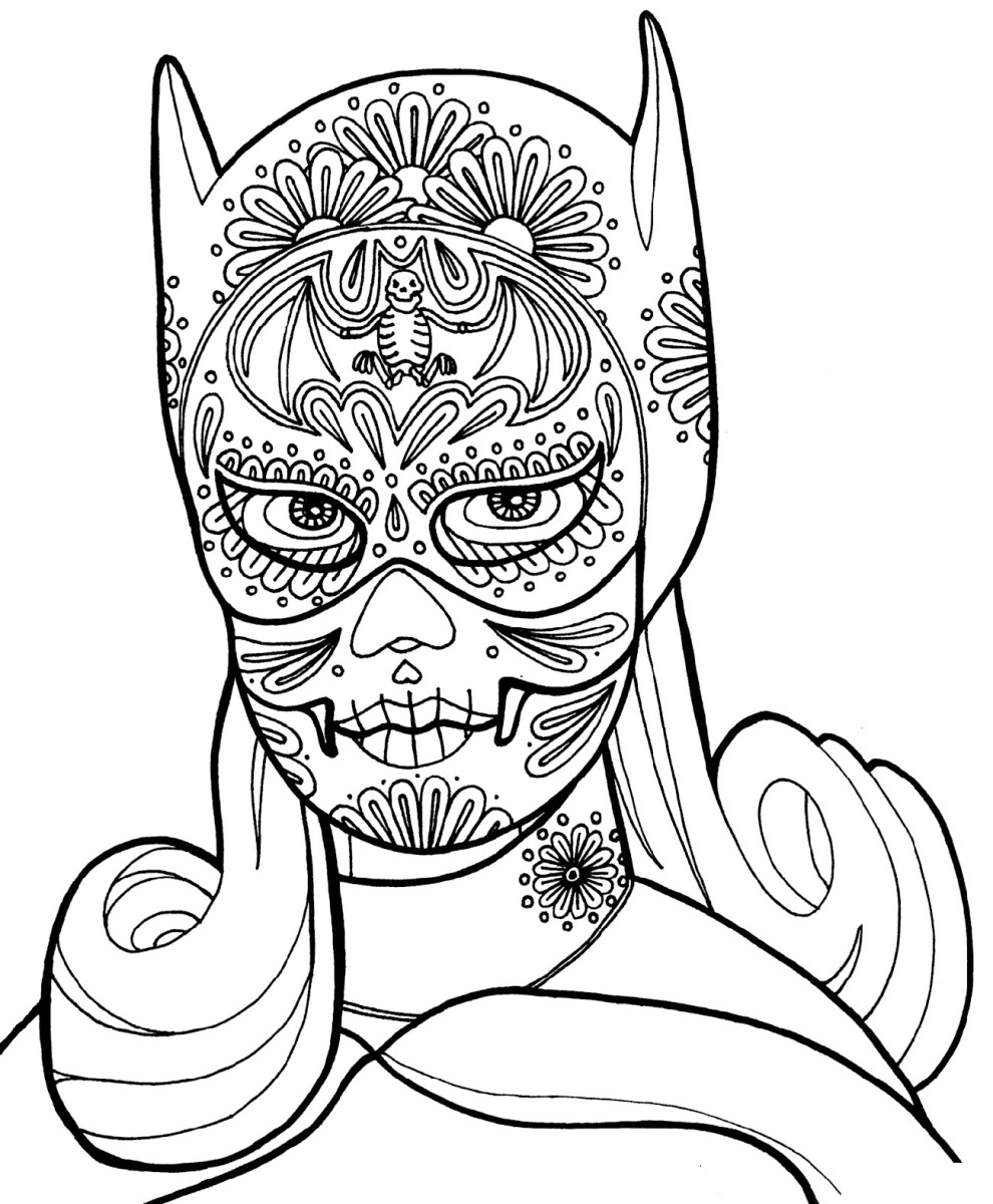 Day Of The Dead Coloring Pages Day Of The Dead Coloring ...