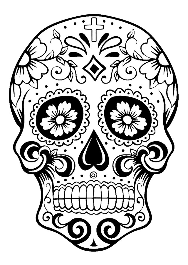 21+ Best Photo of Day Of The Dead Coloring Pages - birijus.com