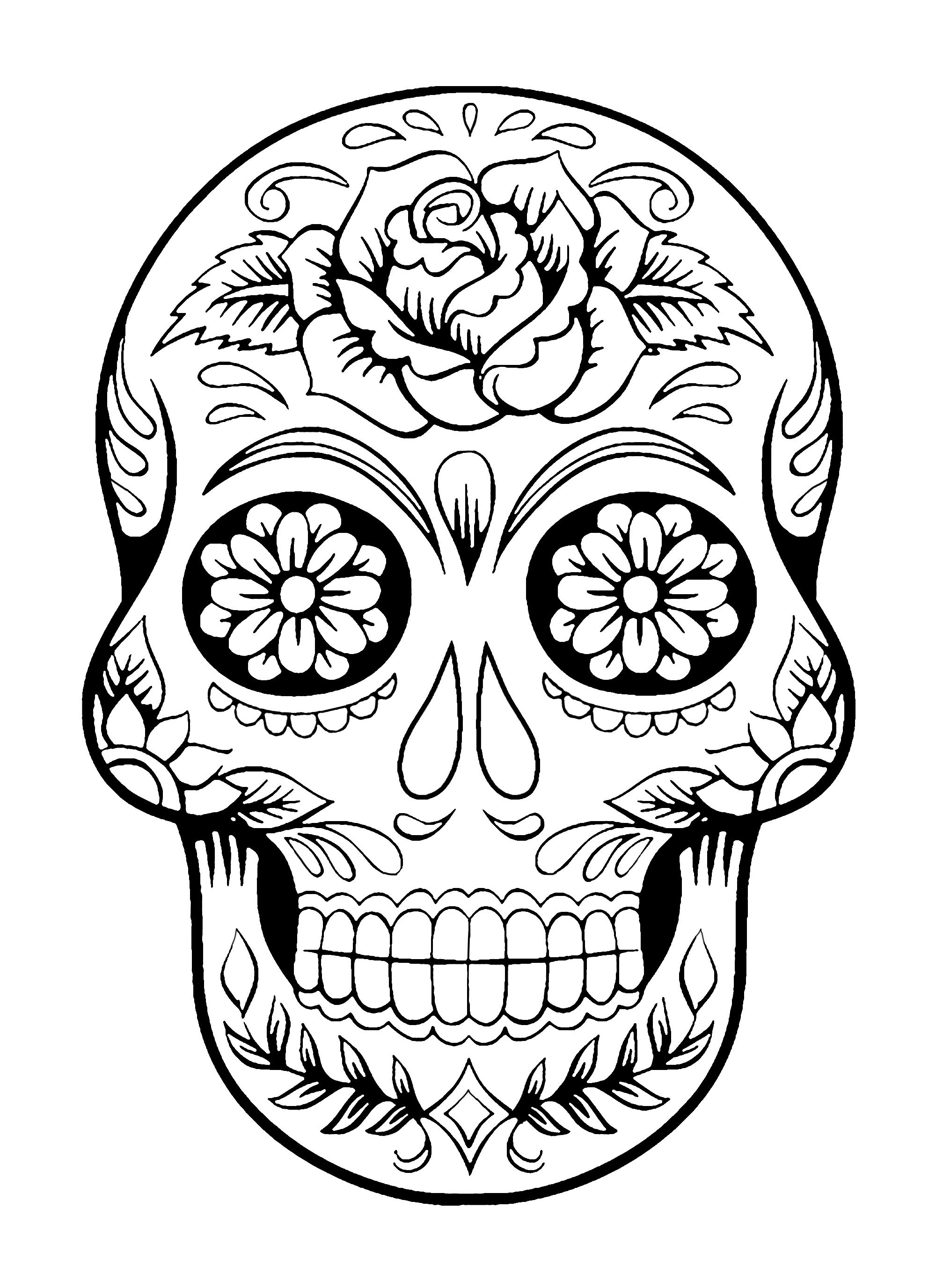 - Day Of The Dead Coloring Pages El Dia De Los Muertos 4 El Dia De
