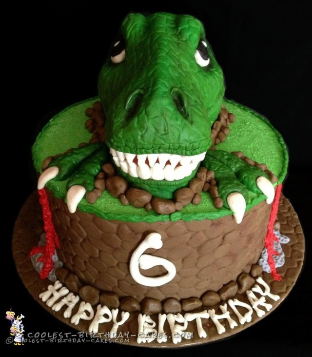Dinosaur Birthday Cake Awesome T Rex Dinosaur Birthday Cake