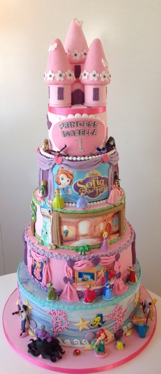 Incredible Disney Birthday Cakes Disney Princess 1St Birthday Cake Personalised Birthday Cards Paralily Jamesorg