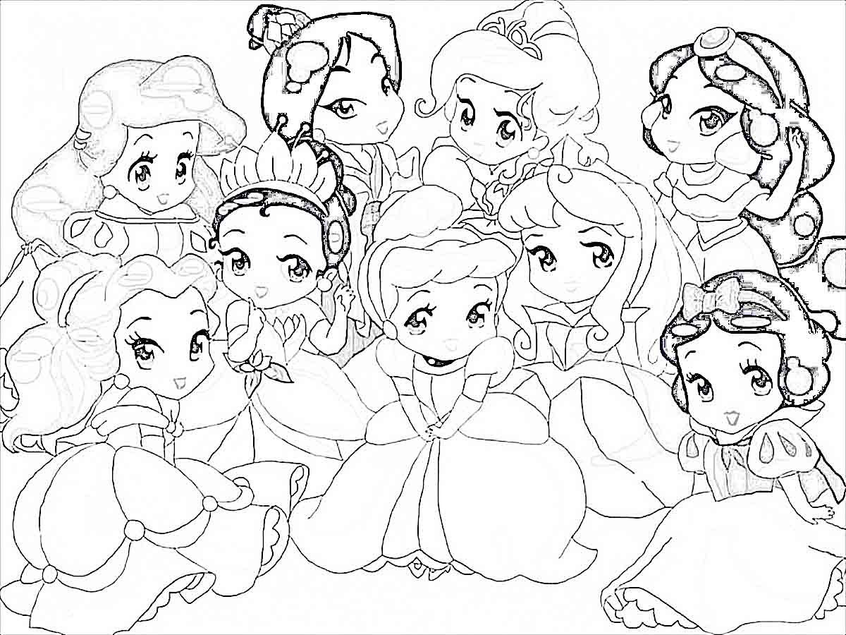 Disney: All Disney Characters Together Coloring Pages