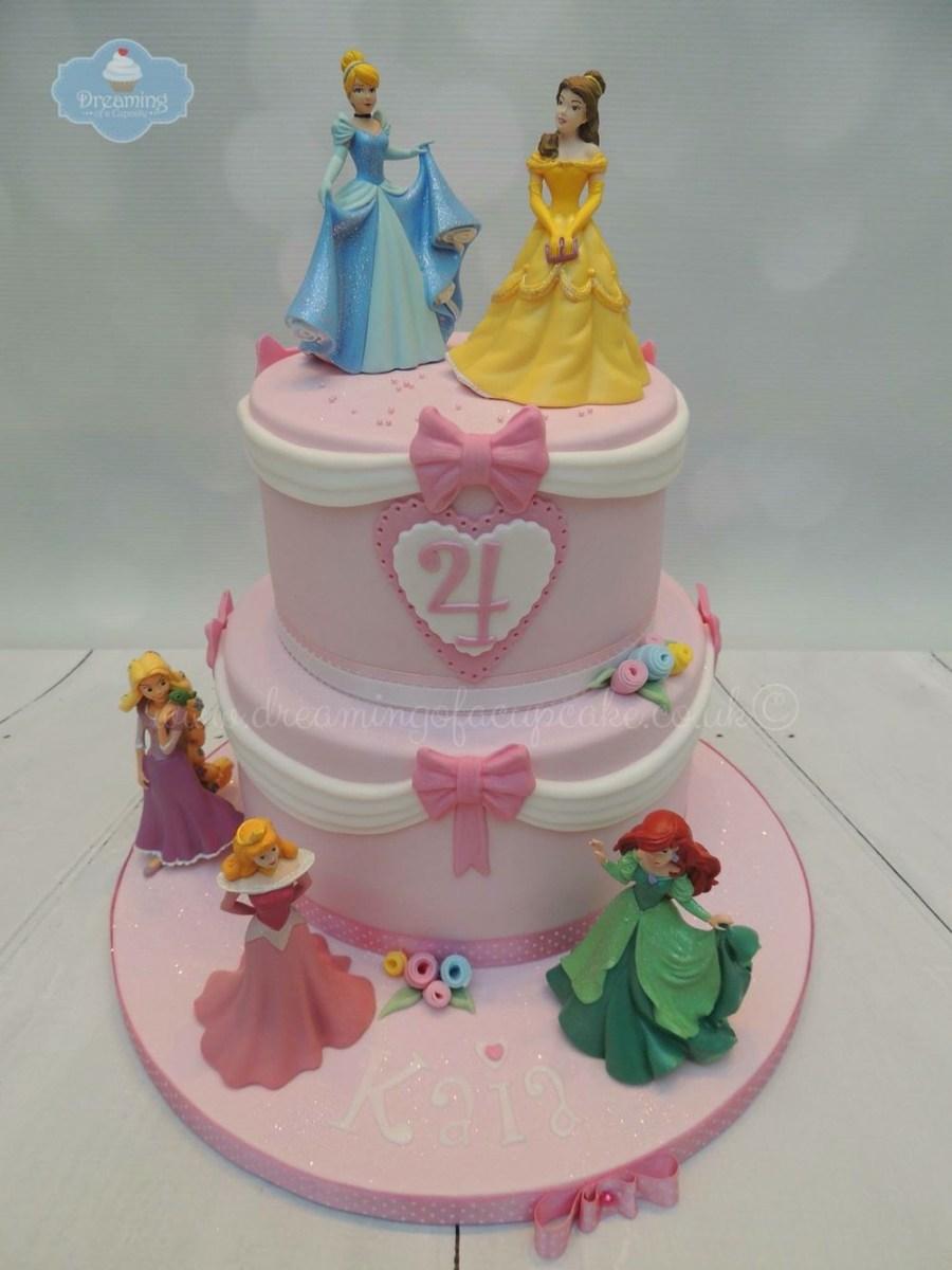 Awe Inspiring Disney Princess Birthday Cakes 2 Tier Disney Princess Cake Kids Funny Birthday Cards Online Inifodamsfinfo