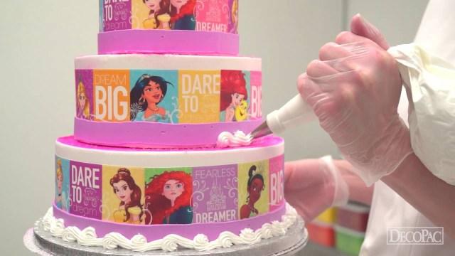 Disney Princess Birthday Cakes How To Make A Disney Princess Dream Big Princess Cake Youtube