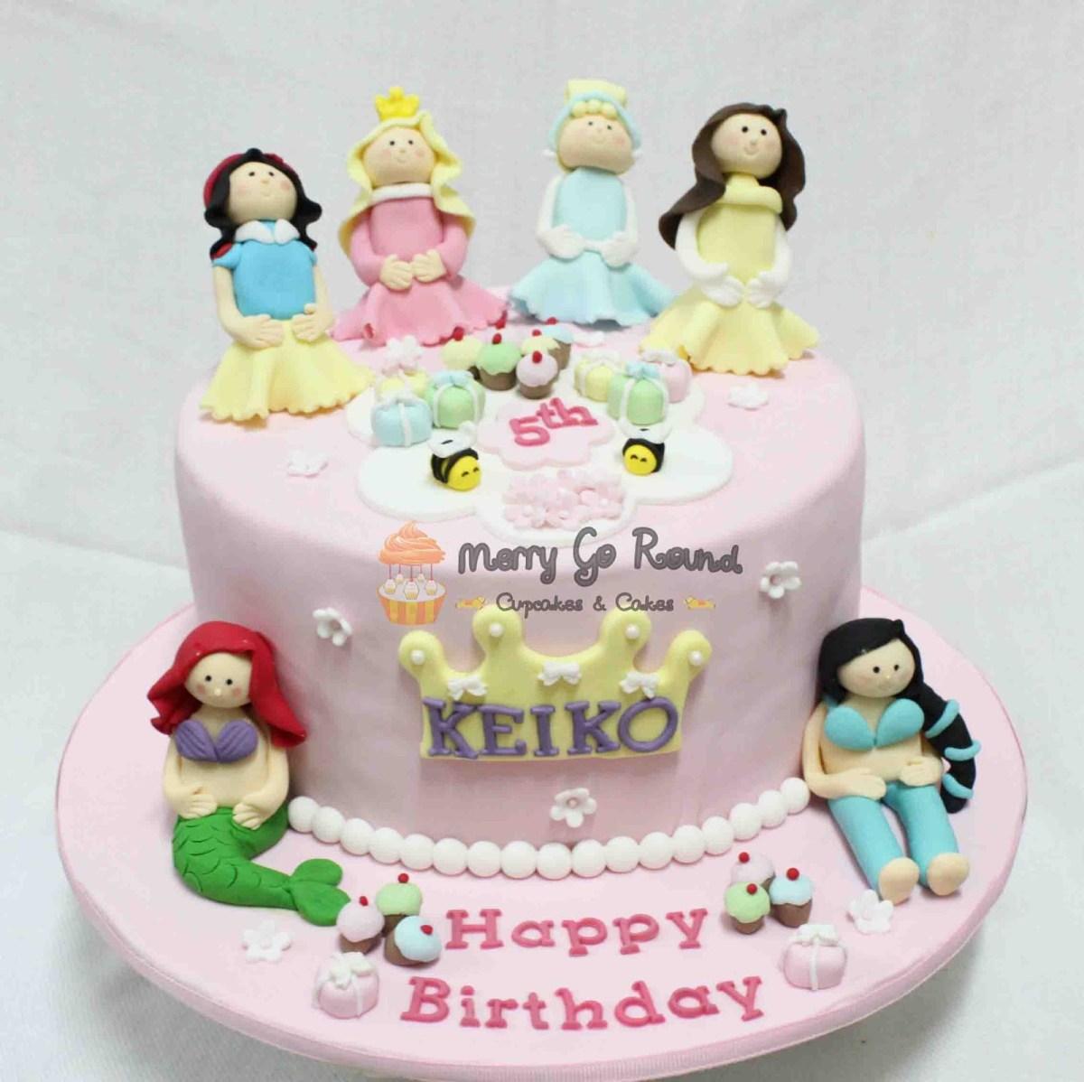 Peachy Disney Princess Birthday Cakes Merry Go Round Cupcakes Cakes Funny Birthday Cards Online Inifodamsfinfo