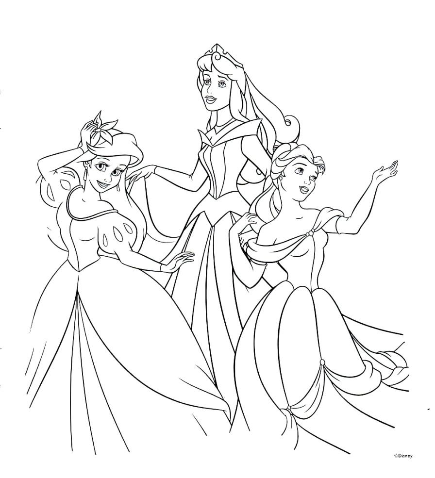 Disney Princess Coloring Page Disney Princesses Coloring Pages Princess Free Thanhhoacar