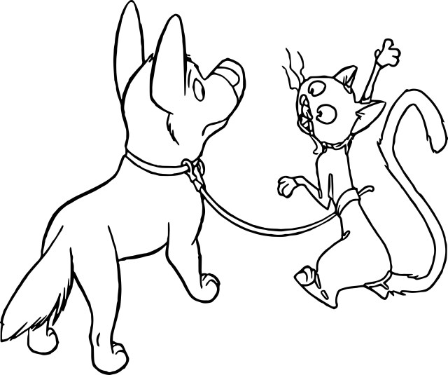 Dog And Cat Coloring Pages Bolt Dog Cat Coloring Pages Wecoloringpage