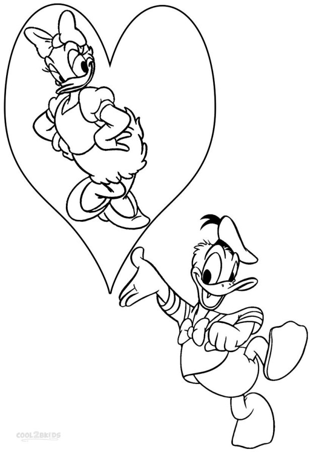 Donald Duck Coloring Pages Valentines Donald Duck Coloring Pages Coloringsuite