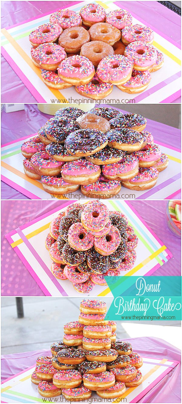 Donut Birthday Cake Donut Party Simple Kids Birthday Party Idea The Pinning Mama