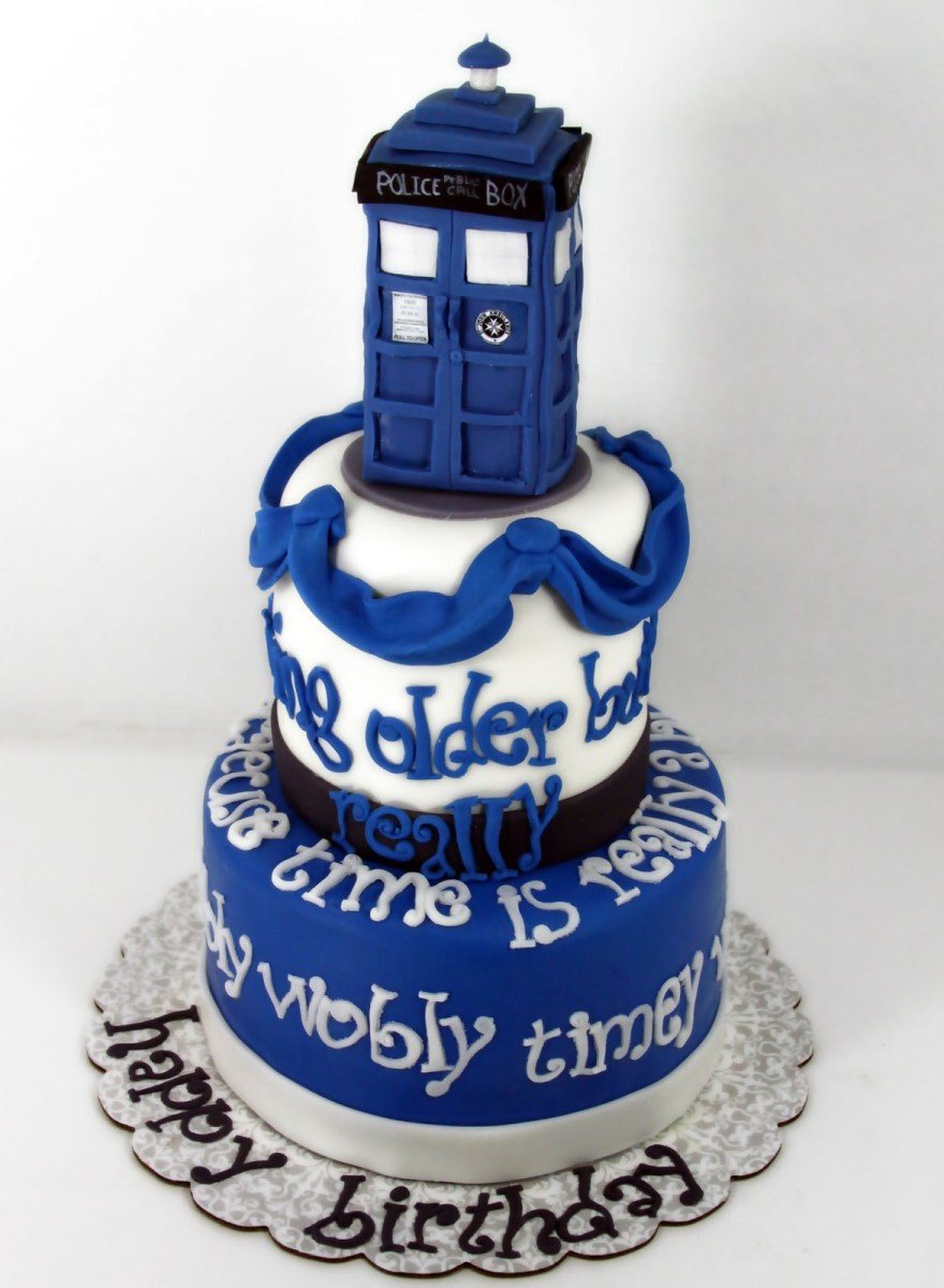 Surprising Dr Who Birthday Cake 8 Doctor Who B Day Cakes Photo Doctor Who Funny Birthday Cards Online Inifofree Goldxyz
