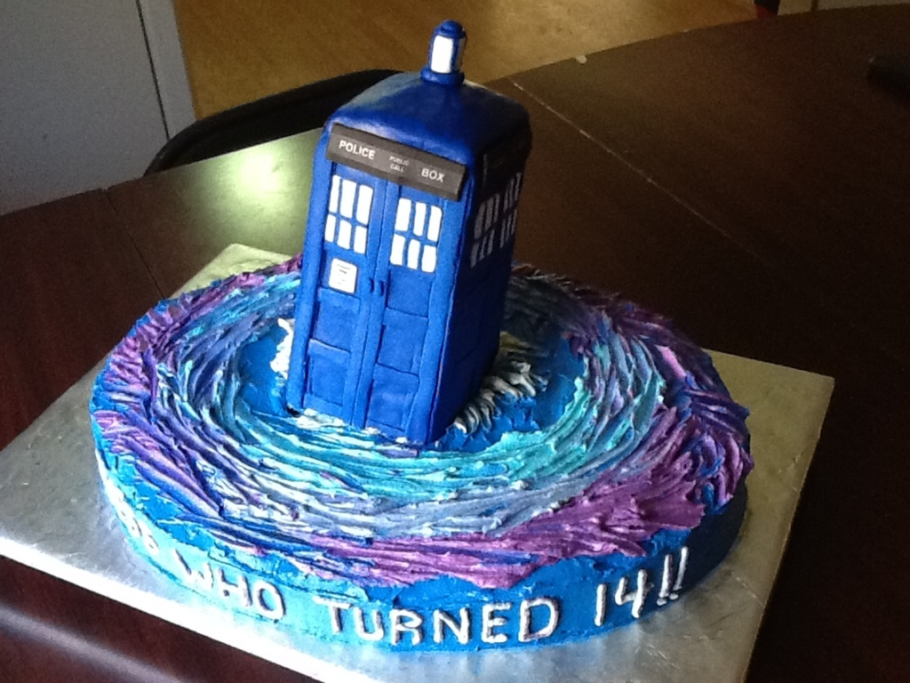 Fabulous Dr Who Birthday Cake Birthday Cake For Dr Who Fan Tardis Made Of Funny Birthday Cards Online Inifofree Goldxyz