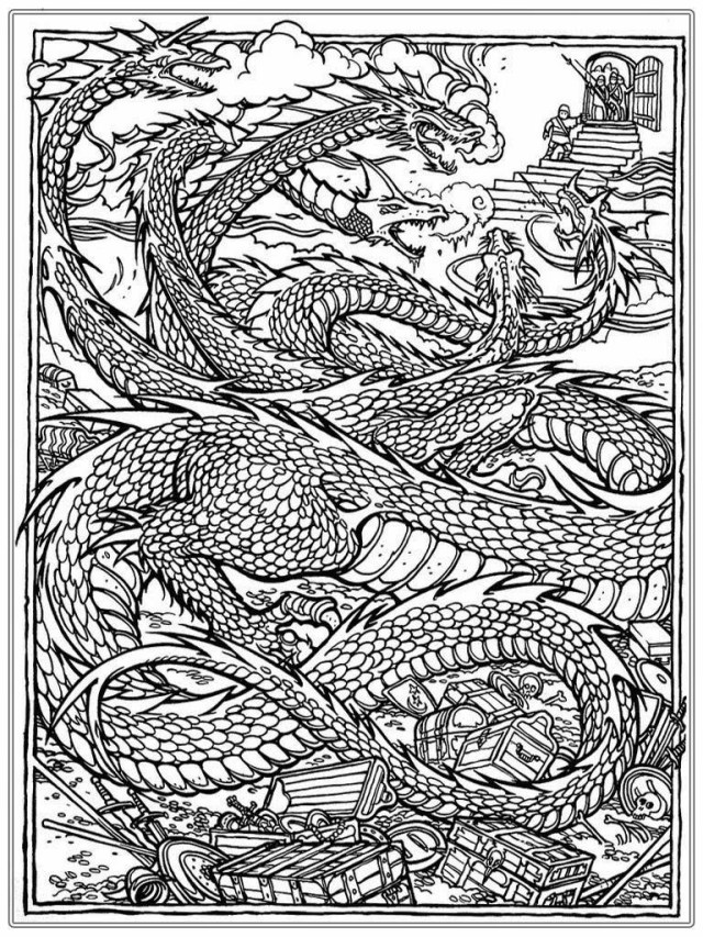 Dragon Coloring Pages For Adults Coloring Page 55 Phenomenal Dragon Coloring Books For Adults