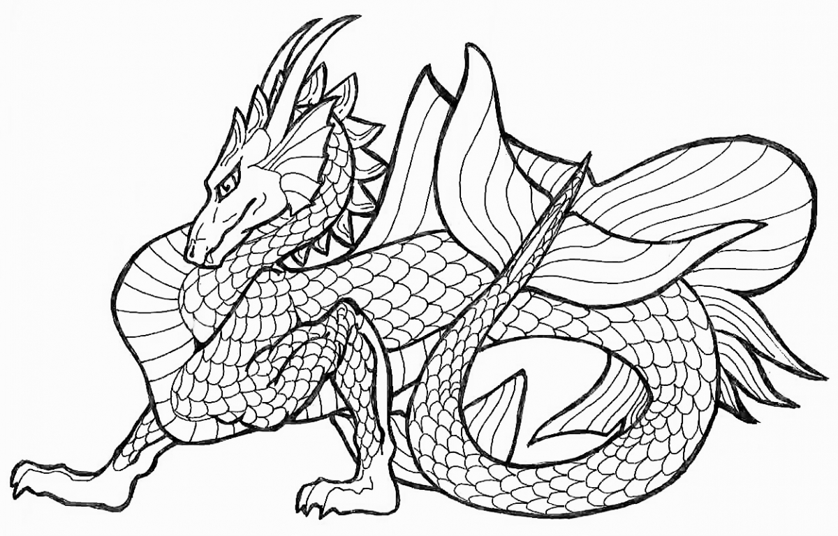 Dragon Coloring Pages For Adults Dragon Coloring Pages Adults At