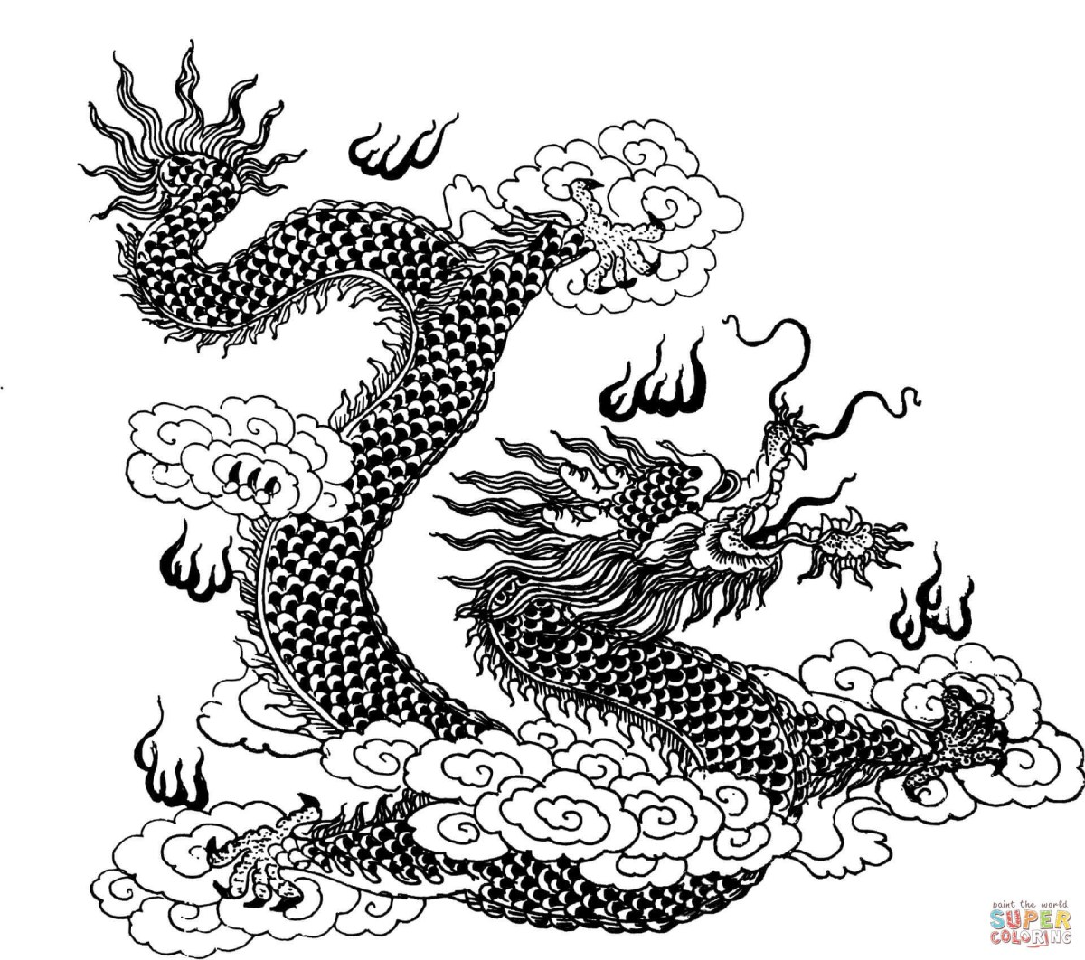 Dragon Coloring Pages For Adults Dragon Coloring Pages Free ...