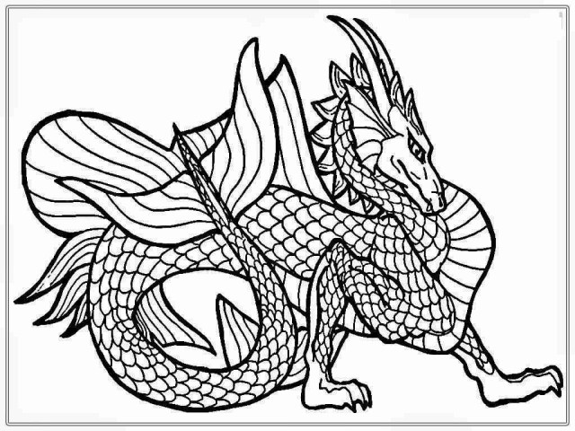 Dragon Coloring Pages For Adults Hard Dragon Coloring Pages For Adults