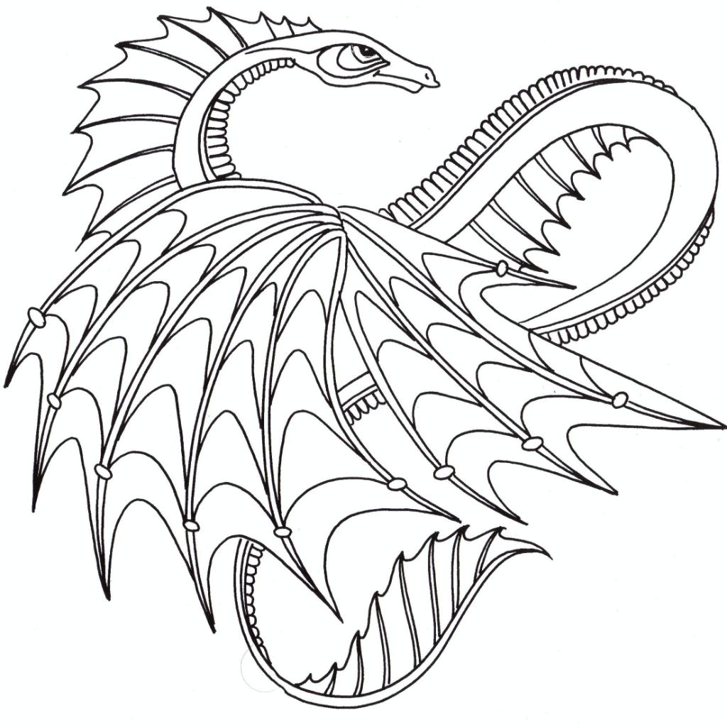 Dragon Coloring Pages For Adults Printable Dragon Coloring Pages  Coloringstar - birijus.com