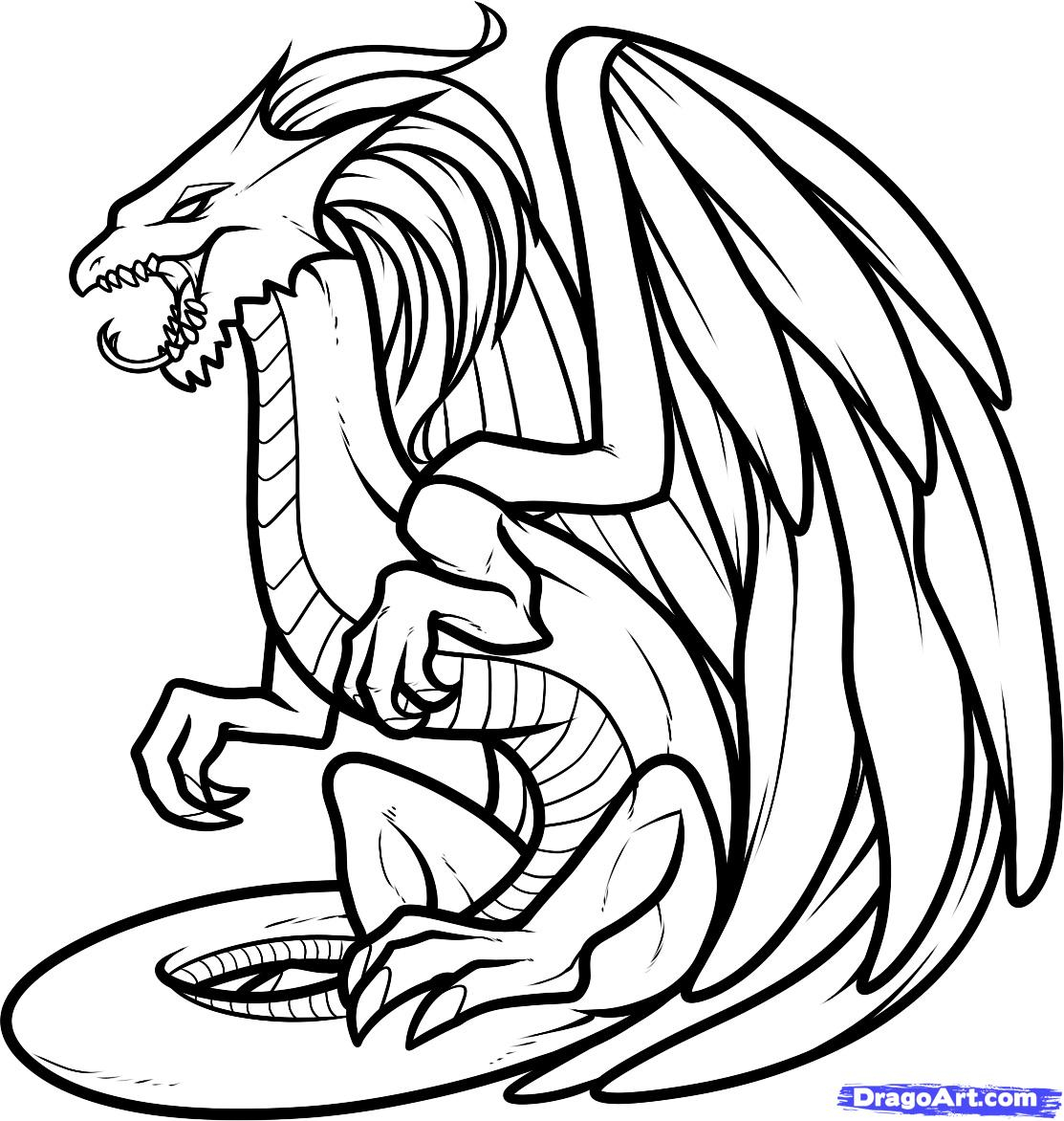 Top 25 Free Printable Dragon Coloring Pages Online | Dragon ... | 1172x1113
