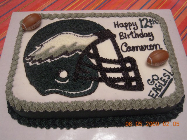 Eagles Birthday Cake Eagles Birthday Cake All Buttercream I Freehanded The Hel Flickr