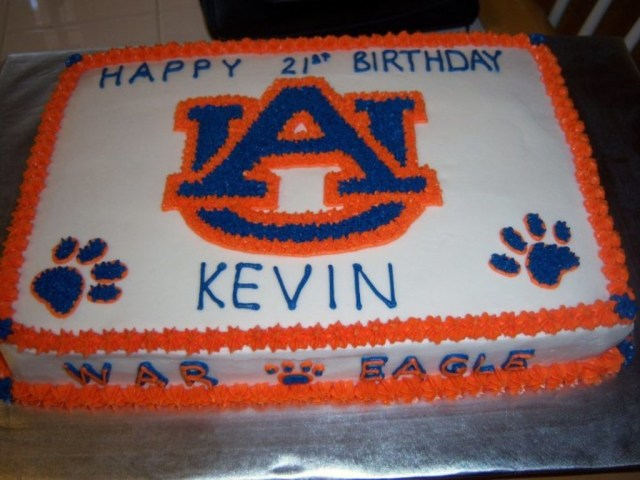 Eagles Birthday Cake War Eagle Birthday Cake Cakecentral