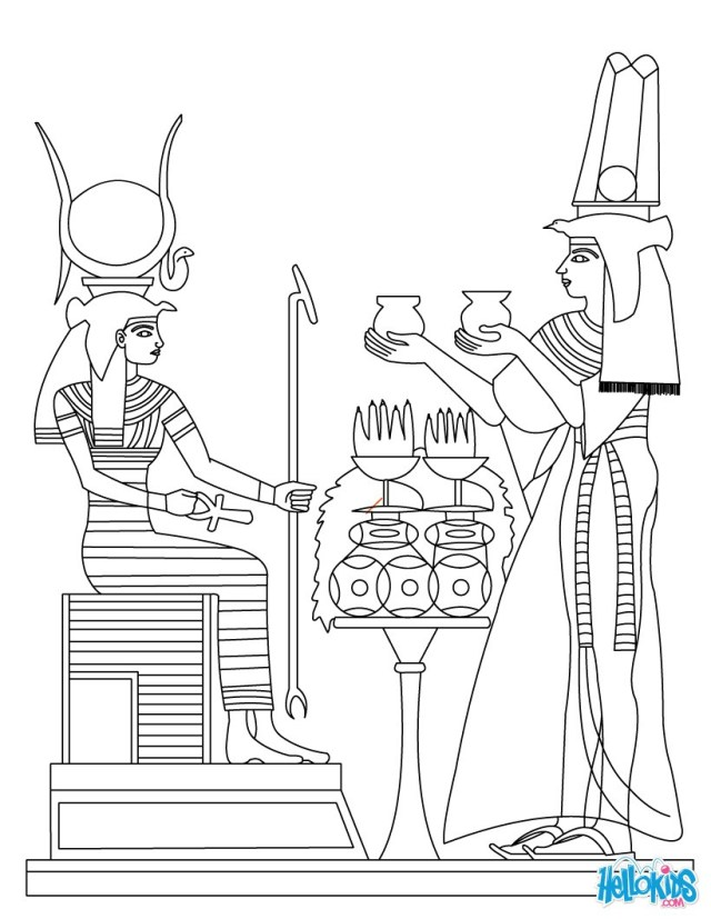 Egyptian Coloring Pages Ancient Egypt Art Coloring Pages Hellokids