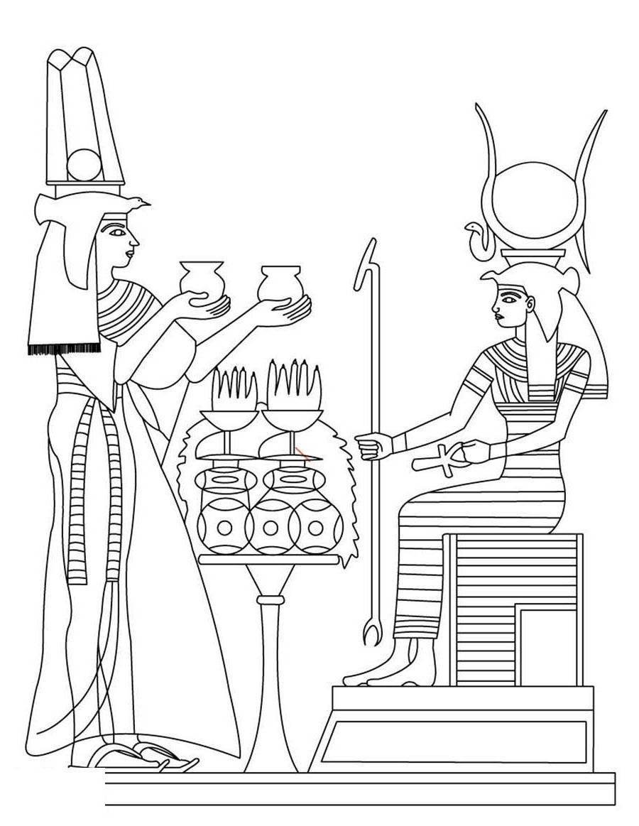 Egyptian Coloring Pages Egyptian Coloring Pages Ancient Egypt Coloring Book Free Printable