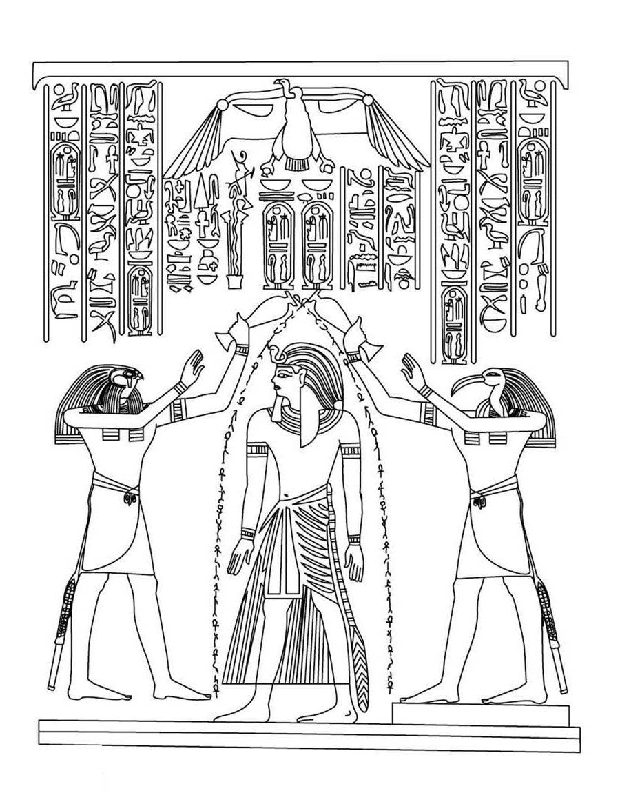 Egyptian Coloring Pages Egyptian Coloring Pages Click Below For Toddlers Free Printable