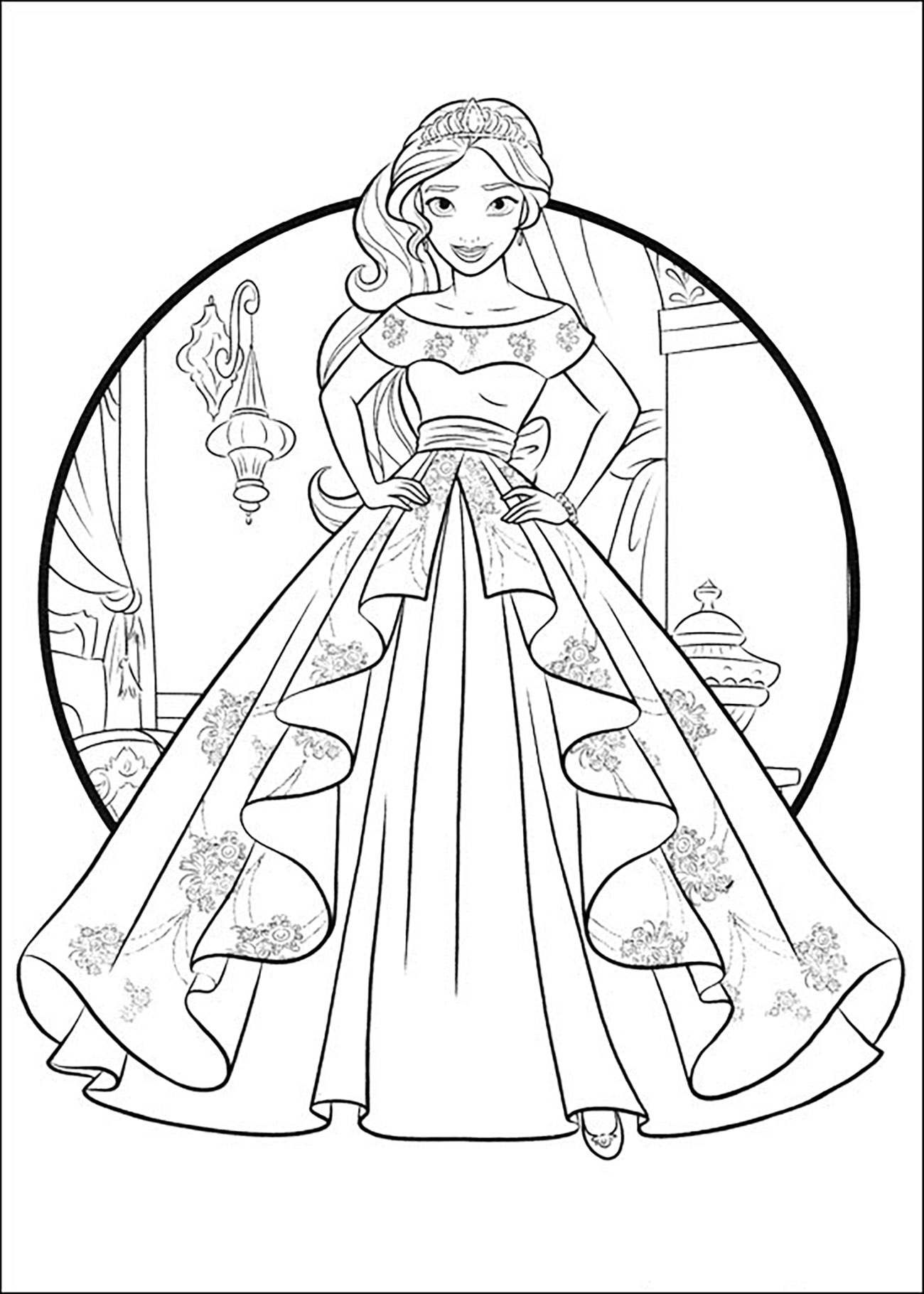 photograph relating to Elena of Avalor Coloring Pages Printable called 21+ Eye-catching Consider of Elena Of Avalor Coloring Web pages