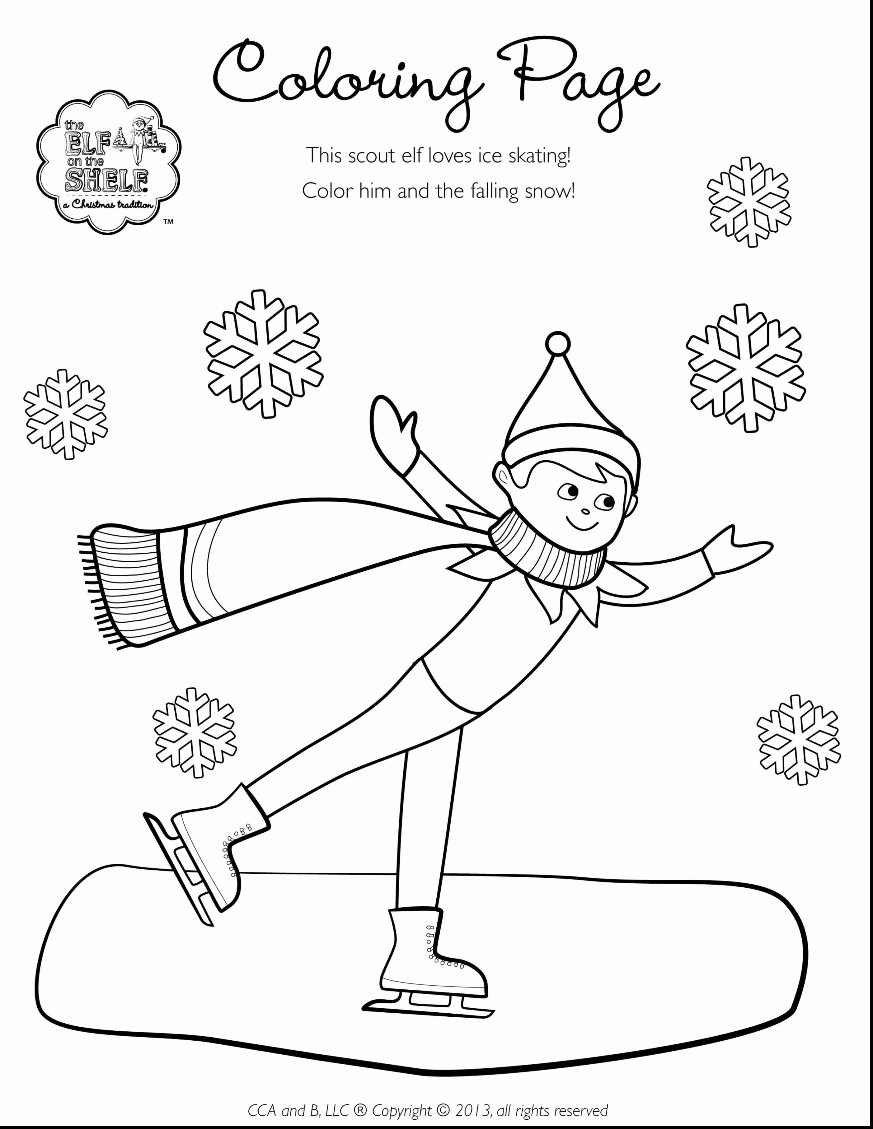 Elf on the Shelf Coloring page | Elf on the self, Christmas elf ... | 3630x2805