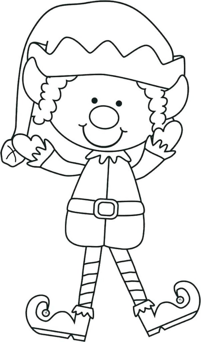 Free printable coloring page: Christmas in... - The Elf on the ... | 1200x706