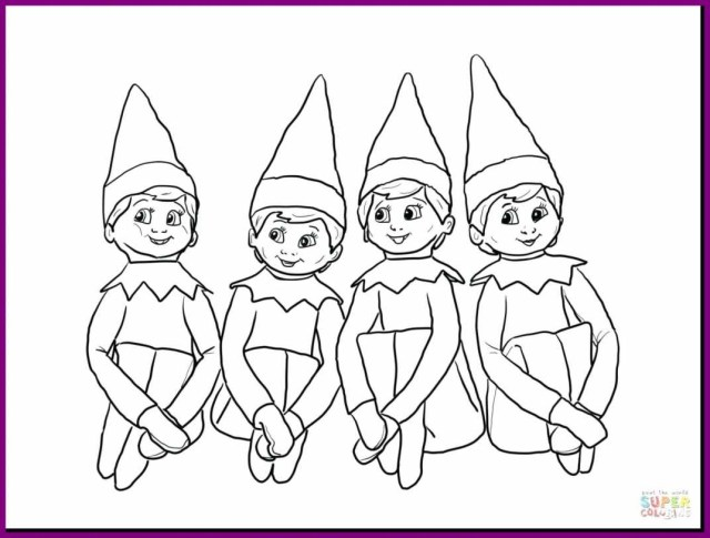 Elf On The Shelf Coloring Pages Elf On The Shelf Coloring Sheets Best Of Photos 29 Best Elf The