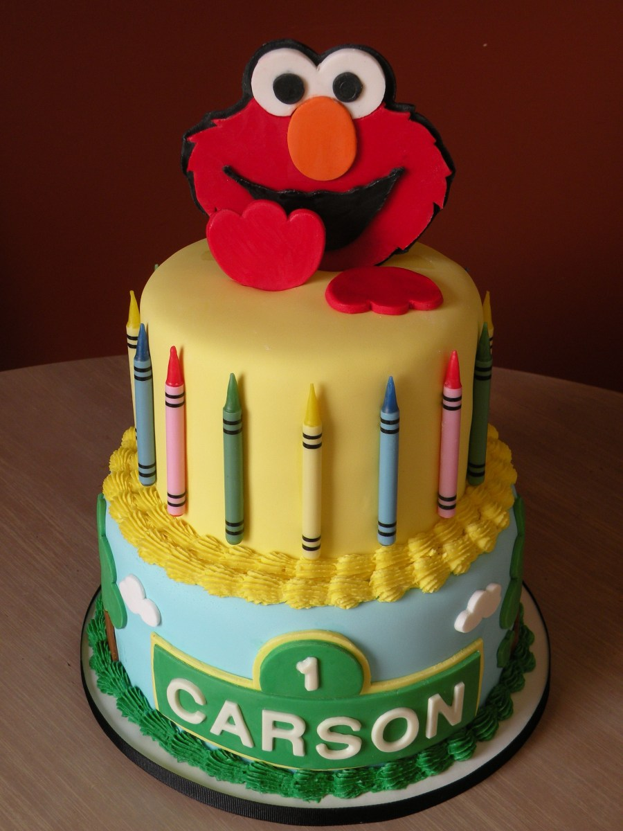 Awe Inspiring Elmo Birthday Cakes Elmo 1St Birthday Cake Elmo Cake Made For A Personalised Birthday Cards Paralily Jamesorg