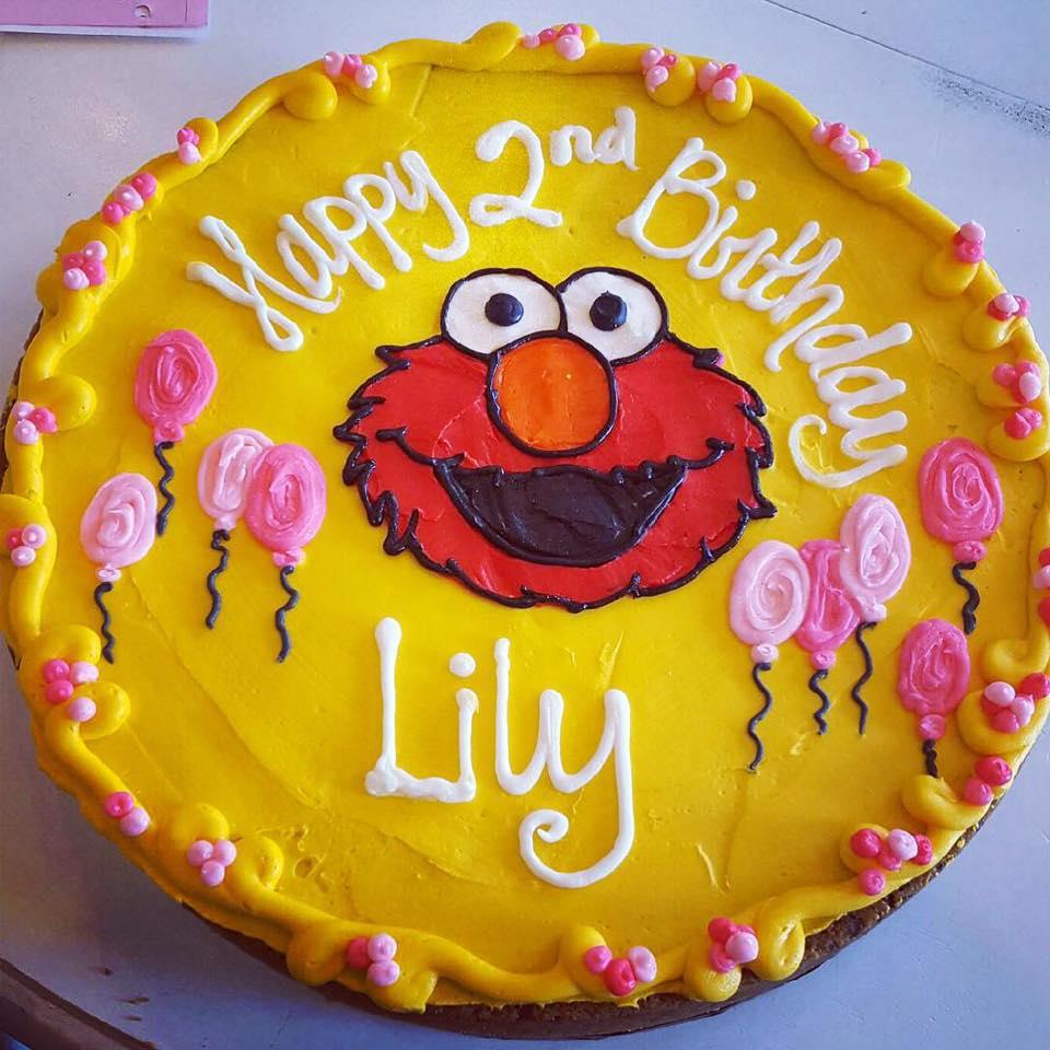 Awe Inspiring Elmo Birthday Cakes Elmo Birthday Cookie Cake Hayley Cakes And Personalised Birthday Cards Veneteletsinfo
