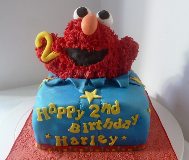 Elmo Birthday Cakes Surprise Elmo Birthday Cake Wedding Birthday Cakes From