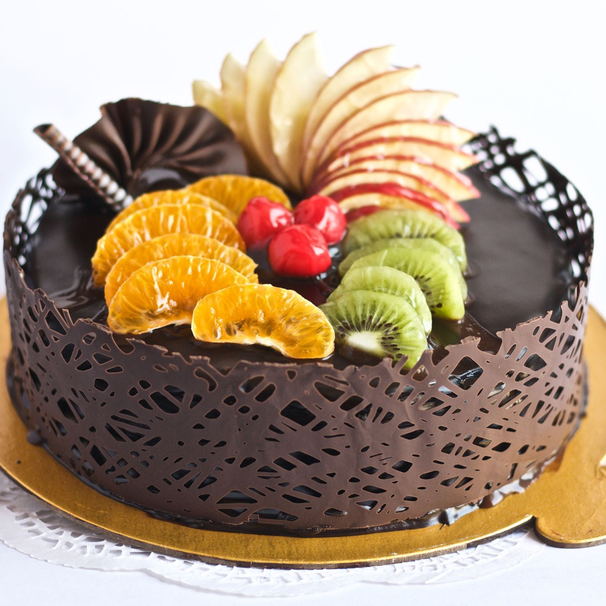 Miraculous Exotic Birthday Cakes Exotic Chocolate With Fruit Cake Regular Funny Birthday Cards Online Overcheapnameinfo